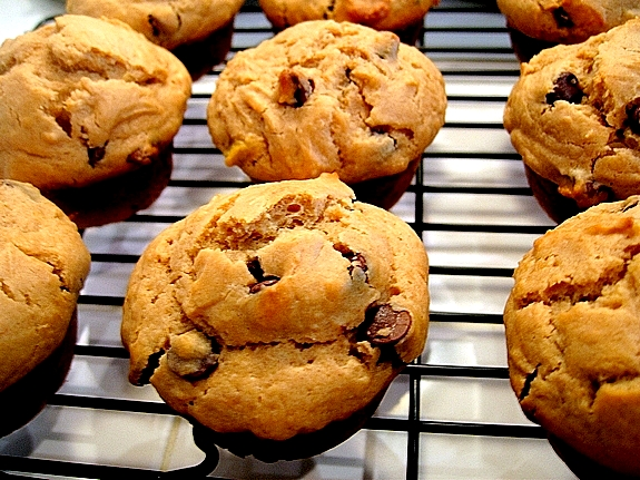 Peanut Butter Banana Chocolate Chip Muffins | Noble Pig