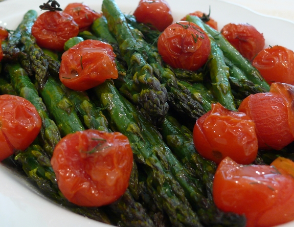 Roasted Asparagus with a Honey-Citrus Dressing | Noble Pig