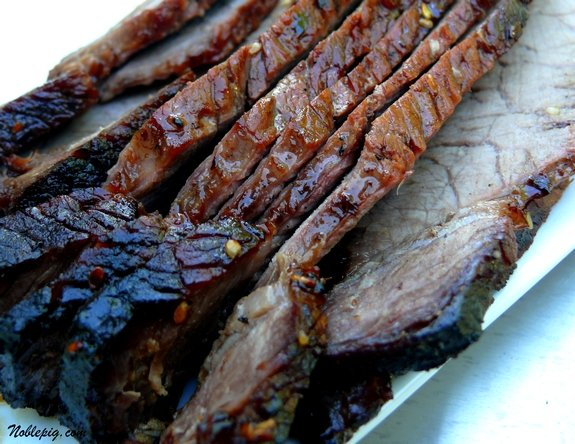 London Broil with a Sesame-Soy-Brown Sugar Marinade | Noble Pig