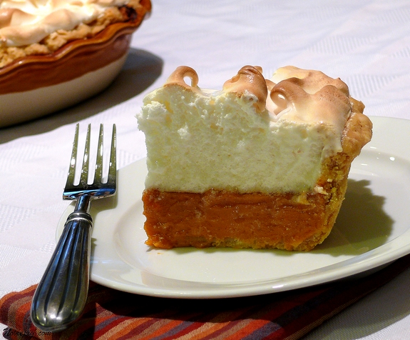 Sweet Potato Pie with Marshmallow Meringue | Noble Pig