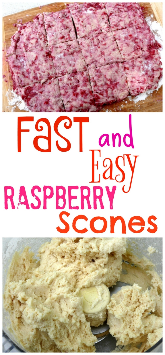 Fast and Easy Raspberry Scones