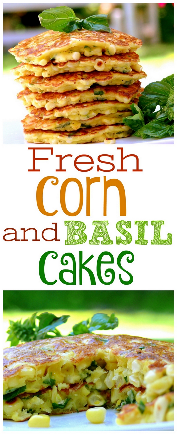 Fresh Corn and Basil Cakes
