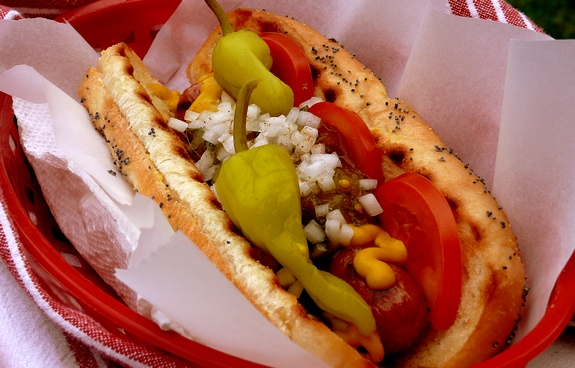 Chicago Style Hot Dogs Noble Pig