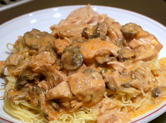 Super Saucy Chicken over Angel Hair Pasta | Noble Pig
