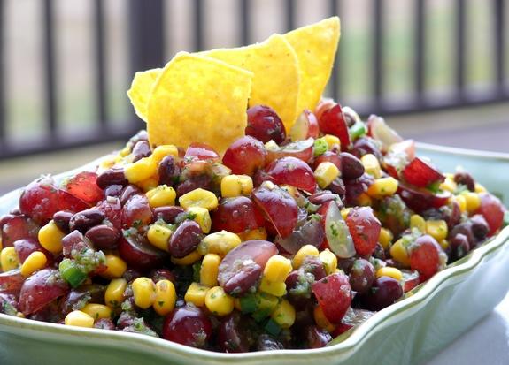 Black Bean Pressure Cooker Grape, Corn & Black Bean Salsa