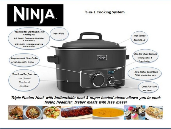 Ninja Cooking System Giveaway 159 Value