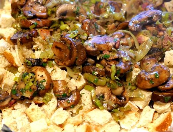 Mushroom and Leek Bread Pudding | Noble Pig
