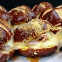 Ham-and-Havarti-Sliders-on-Parmesan-and-Butter-Topped-Pretzel-Buns1