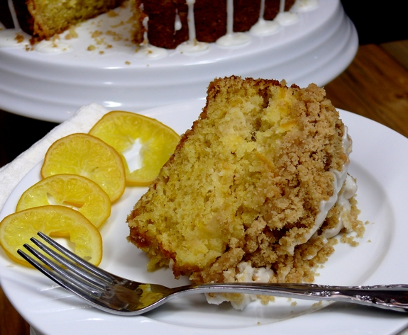 Meyer Lemon Coffee Cake piece