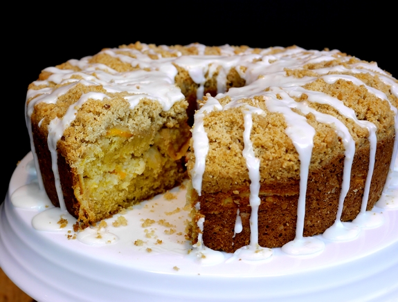 Meyer Lemon Coffee Cake sliced