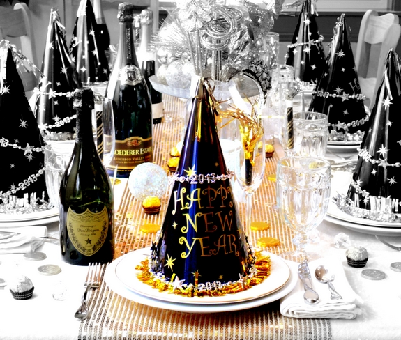 New Years Eve Table Setting Noble Pig Blog 2013 BW