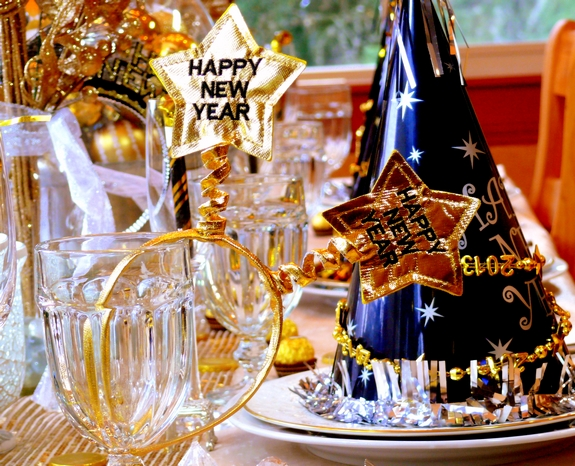 New Years Eve Table Setting Noble Pig Blog 2013 funny & New Year\u0027s Eve Table Setting