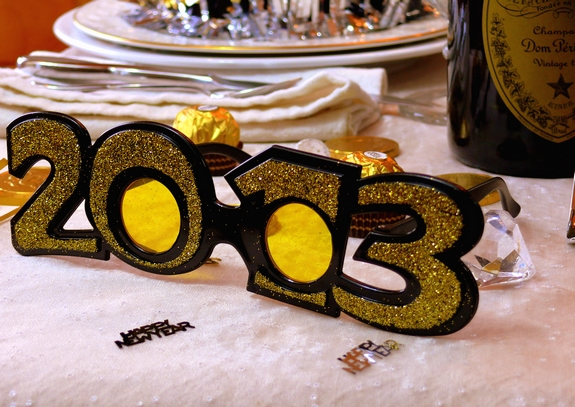 New Years Eve Table Setting Noble Pig Blog 2013 glasses