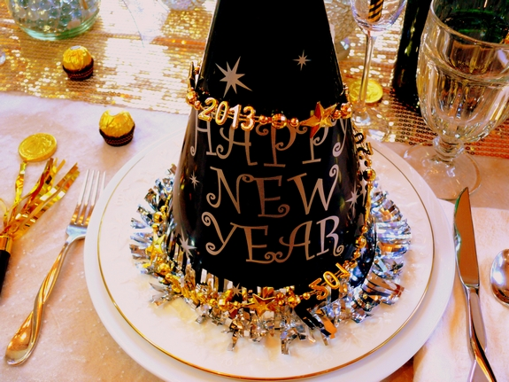 New Years Eve Table Setting Noble Pig Blog 2013 party hats