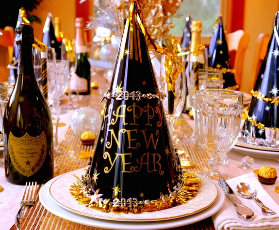 New year 39 s eve table setting - Table nouvel an deco ...