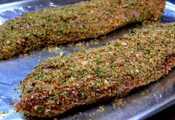 Pepper Crusted Pork Tenderloin with Creamy Mustard Sauce pork