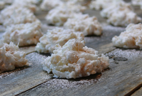 Rice Krispie Coconut Snowballs
