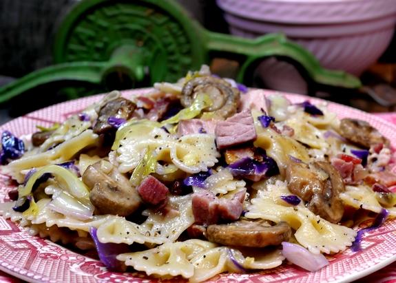 Recipe chicken ham mushroom pasta