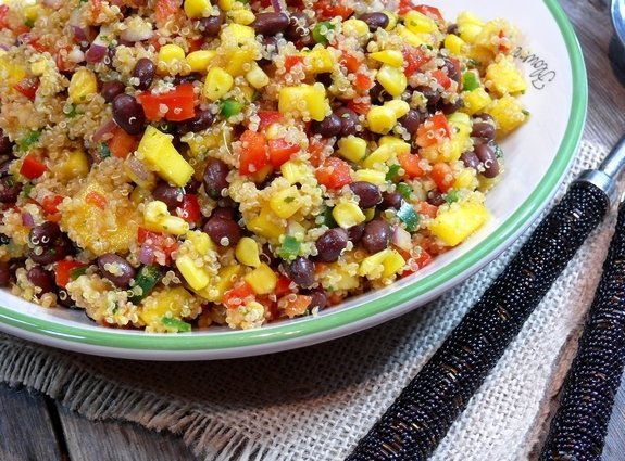 Southwest Quinoa with a Black Bean Mango Medley 1