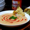 Cheesy-Buffalo Roasted Cauliflower-Potato Soup