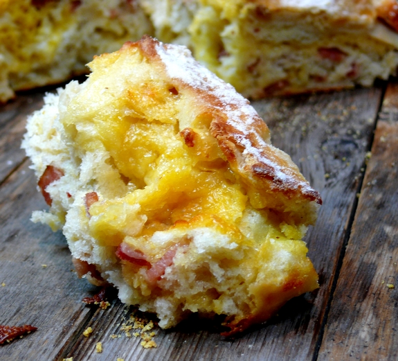 Easy Artisan Bacon Cheese Bread  crumbjpg