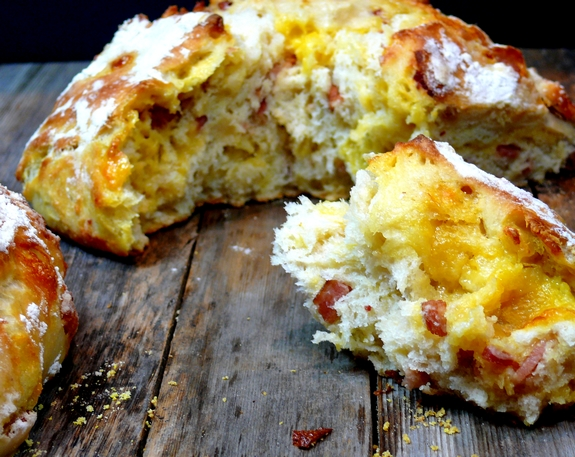 Easy Artisan Bacon Cheese Bread 1