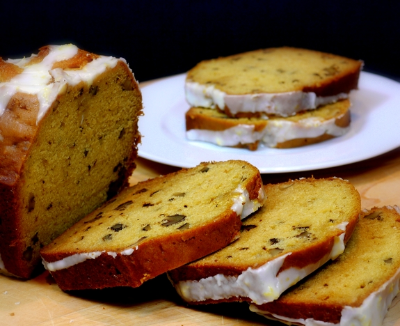 Lemon Verbena Walnut Loaf Cake