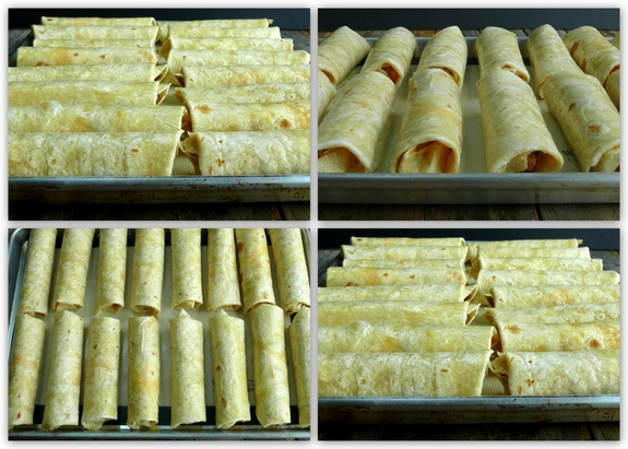 Oven Baked Pulled Pork Flautas rolled flautas