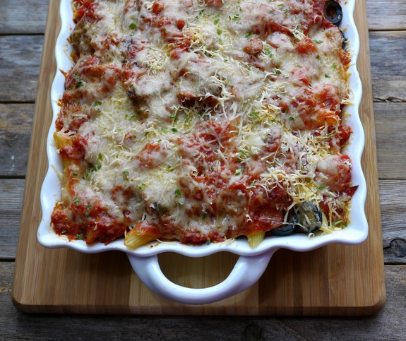 Penne Pasta Pizza Bake 4