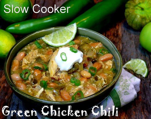 Slow Cooker Green Chicken Chile 1