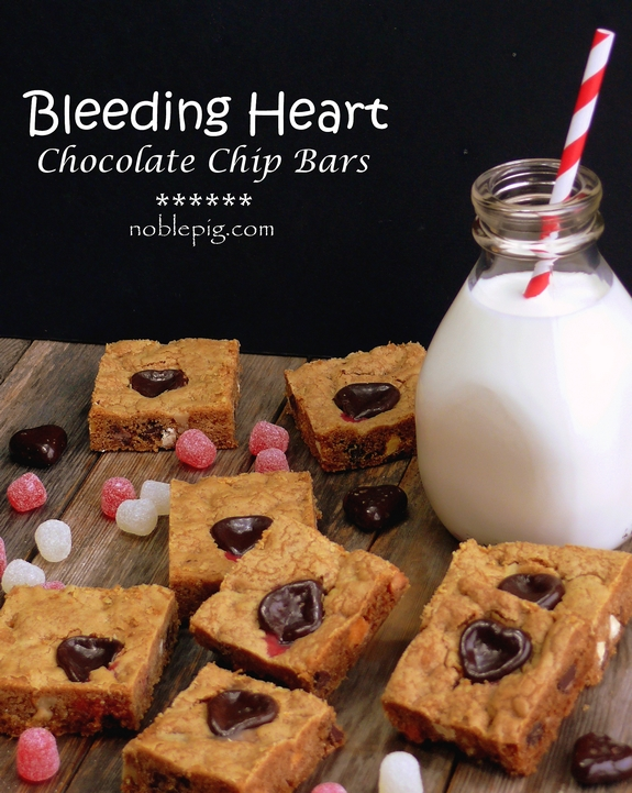 Bleeding Heart Chocolate Chip Bars milk