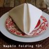 How to Fold a Dinner Napkin ~ The Pyramid Fold