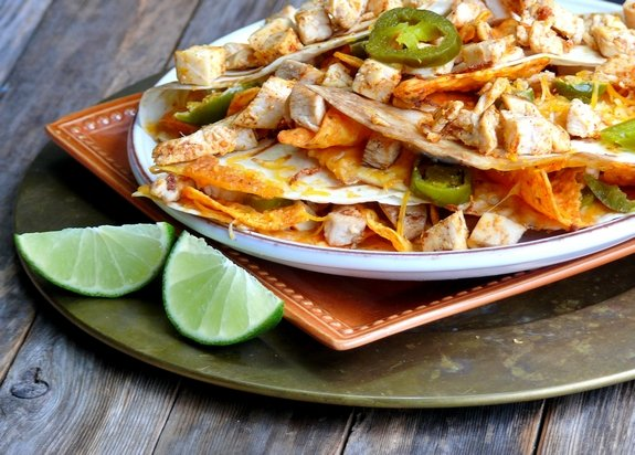 Chicken Dorito Quesadilla to satisfy a craving
