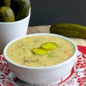 Video + Recipe for Dill Pickle Soup from NoblePig.com.