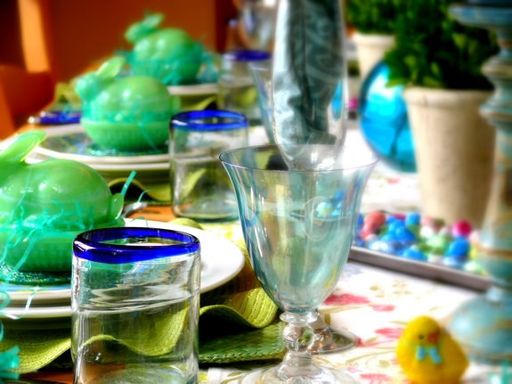 Easter Table Setting  Glassware