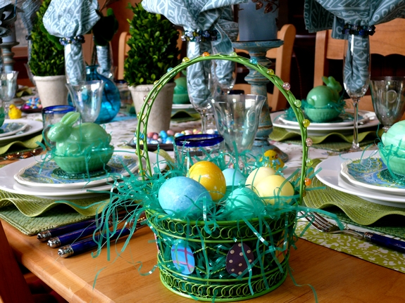 Easter Table Setting  basket