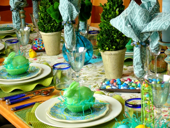 Easter Table Setting  side view