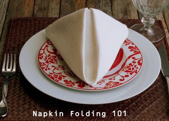 Fancy Napkin Folding The Pyramid Fold
