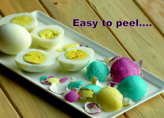 Hard Cooked Pressure Cooker Eggs easy to peel