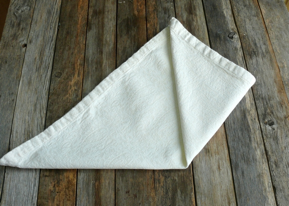 Napkin Folding 4th Step