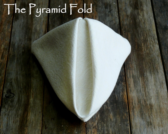 Napkin Folding The Pyramid Fold
