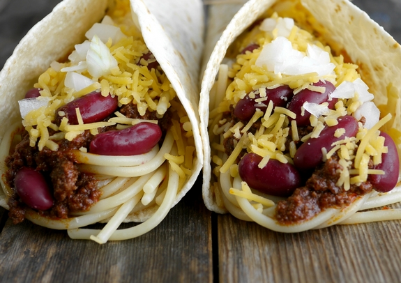 Smoky Cincinnati Chili Tacos a perfect combination