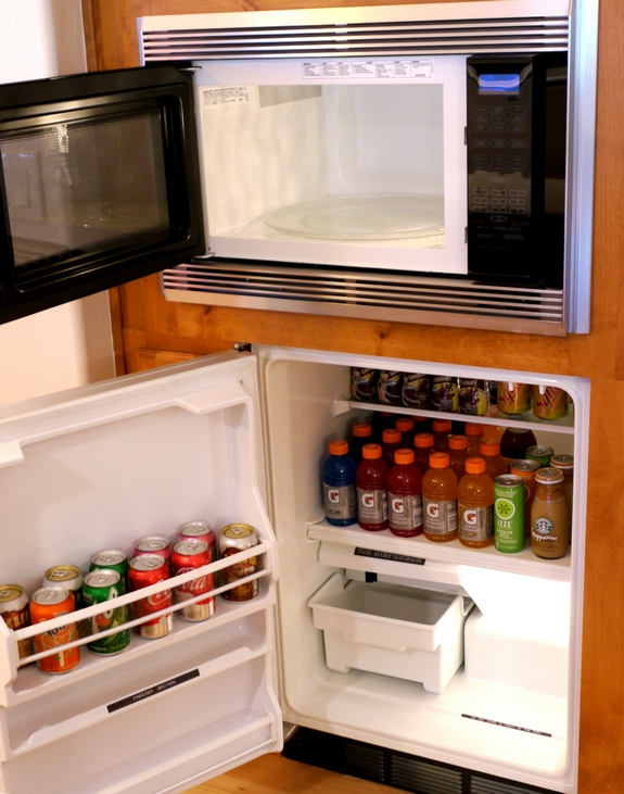 Wolf Microwave and Sub Zero Undercounter Refrigeration