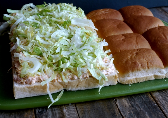 Buffalo Bleu Chicken Salad Sandwiches bread