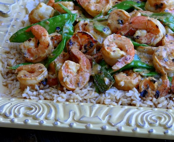 Coconut Milk Lemongrass Shrimp a perfect meal to share