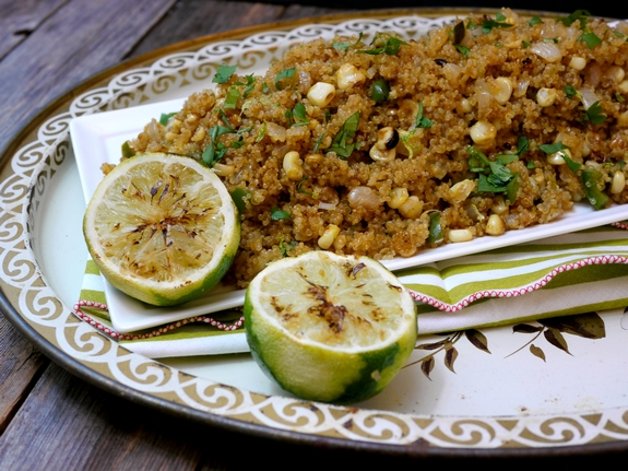 Corn and Jalapeno Skillet Quinoa great side dish