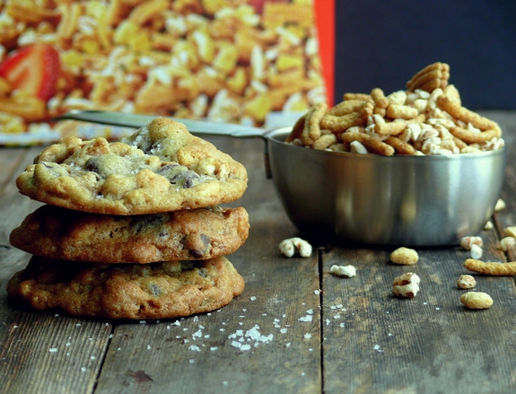Dark Chocolate Sea Salt Kashi Cereal Cookies