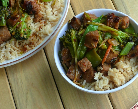 Italian Sausage Rice Bowl perfect meal