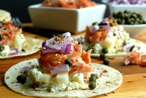 Smoked Salmon Brunch Taco Bar | Noble Pig