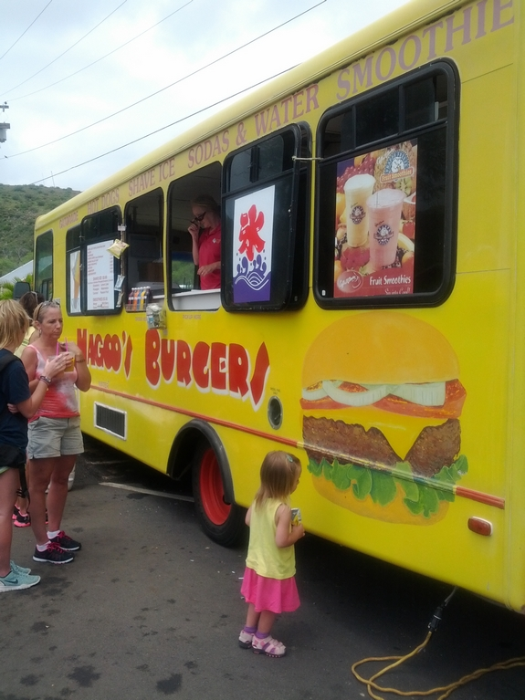 Visiting Diamond Head National Park food truck